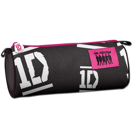 Portatodo One Direction 1D negro redondo