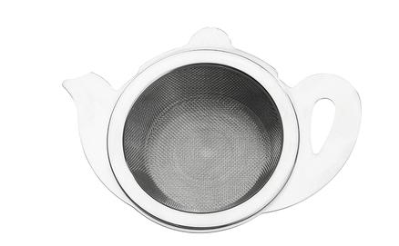 Infusor de té con bol recogedor de acero inoxidable