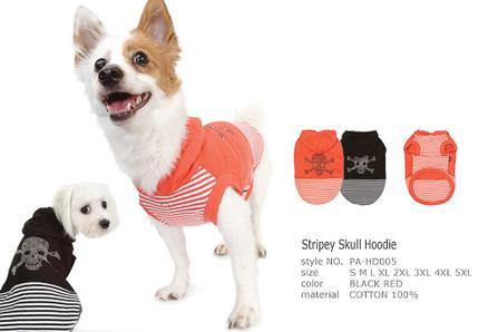 Camiseta Stripey Skull Hoodie