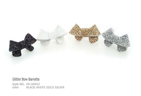 Clip Glitter Bow Barrette