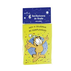 Invitación de cumpleaños Garfield - ¡Voy a celebrar mi cumpleaños!