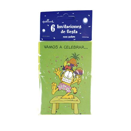 Invitación de cumpleaños Garfield - Vamos a celebrar...