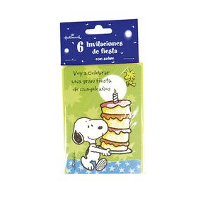 Invitación de cumpleaños Snoopy - Voy a celebrar una gran fiesta de cumpleaños