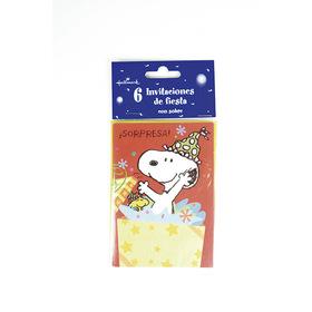 Invitación de cumpleaños Snoopy - ¡Sorpresa!