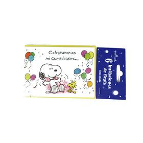 Invitación de cumpleaños Snoopy - Celebramos mi cumpleaños...