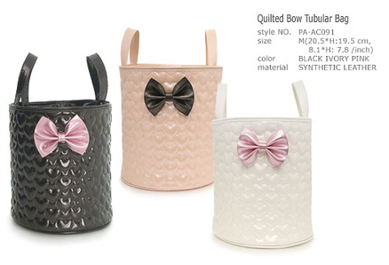 Quilted Bow Tubular Bag