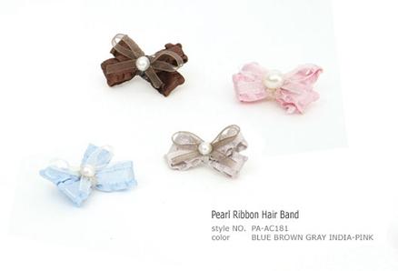Pearl Ribbon Hair Band