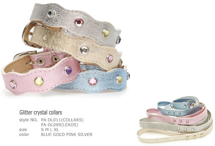 Glitter crystal collars
