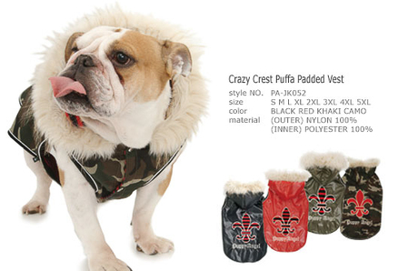 Crazy Crest Puffa Padded Vest