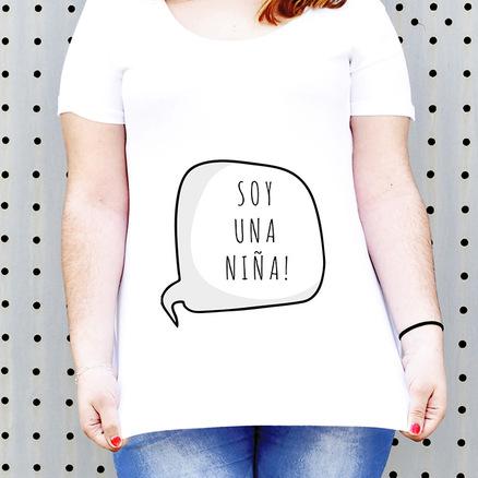 Camiseta para embarazada Soy una niña