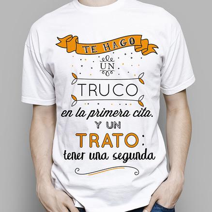 Camiseta original Truco o trato para hombre