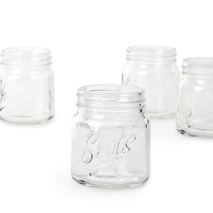 Vaso chupito mason jar 4 unidades vidrio for Vasos chupito personalizados