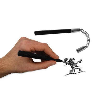 Bolígrafo en forma de Nunchuck