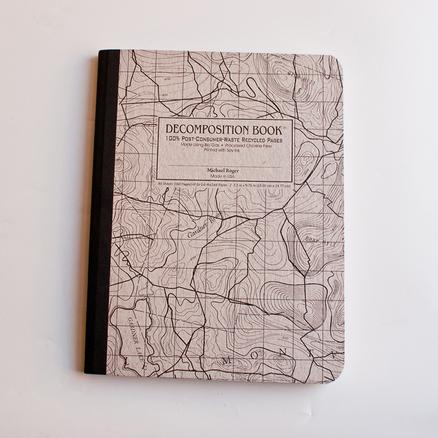 Libreta ecológica Decomposition Books mapa topográfico