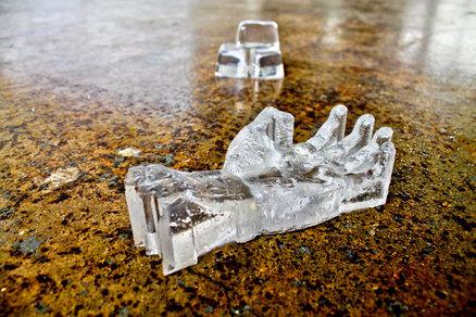 Molde de hielo en forma de mano