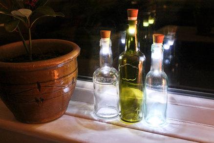 Tapón para botellas con luz