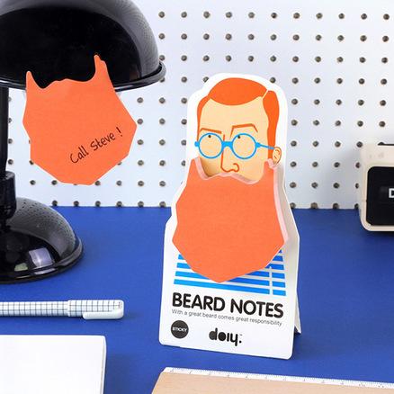 Block de notas con forma de barba