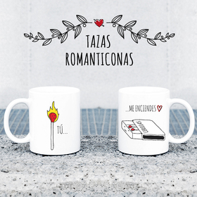 Taza original doble Tú me enciendes