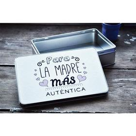 Caja de metal rectangular Para la madre más auténtica