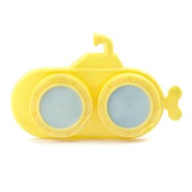 Caja para lentillas en forma de submarino amarillo