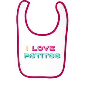 Babero para bebés I love potitos