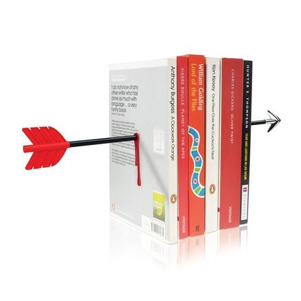 Sujeta libros en forma de flecha