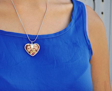 Collar colgante corazón personalizable
