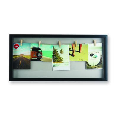 Marco de fotos múltiple Woody para 5 fotos de color negro