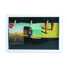 Marco de fotos múltiple Woody para 3 fotos de color fotos de color blanco