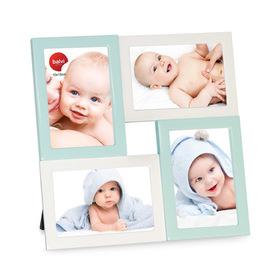 Marco de fotos Mignon para 4 fotos 10x15 azul y blanco