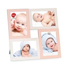 Marco de fotos Mignon para 4 fotos 10x15 rosa y blanco