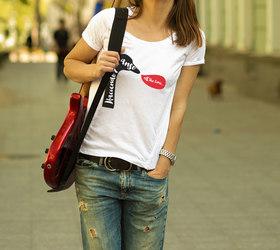 Camiseta original Haciendo el ganso para mujer