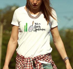 Camiseta original Freir esparragos para mujer