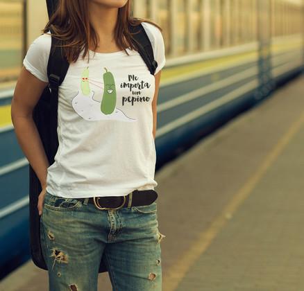 Camiseta original Me importa un pepino para mujer