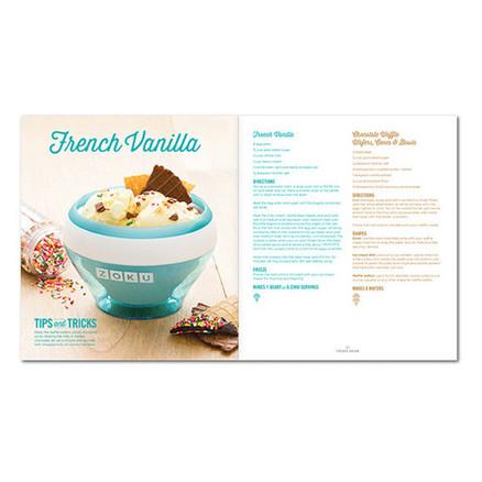 Libro de recetas Zoku para el bowl helados cremoso