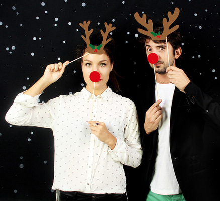 Kit de disfraces navidad Photobooth X-Mas