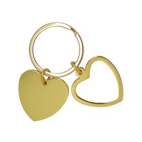 Llavero corazón dorado