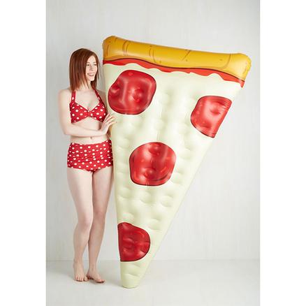 Flotador inflable con forma de pizza