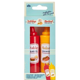 Ketchup&mostaza set boligrafo y subrayador