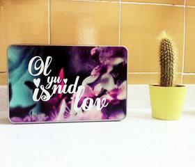Caja de metal rectangular Ol yu nid is love