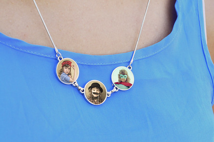 Collar colgante triple personalizable