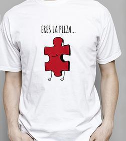 Camiseta original Eres la pieza para hombre
