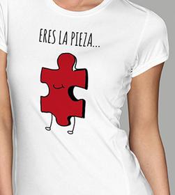 Camiseta original Eres la pieza para mujer