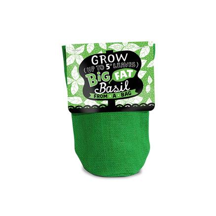 Planta en una bolsa de yute natural Albahaca