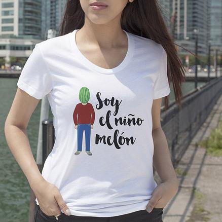 Camiseta original Niño melón mujer
