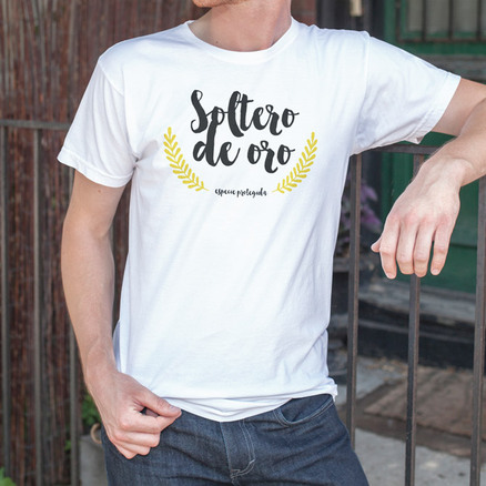 Camiseta original Soltero de oro para hombre