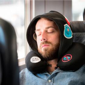 Almohada de viaje con capucha Silent Music