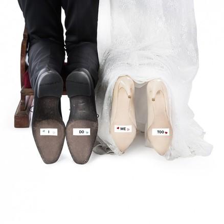 Adhesivos para zapatos de novios en su boda