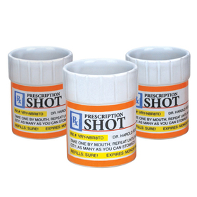 Set 3 vasos de chupitos Prescritpion Shots