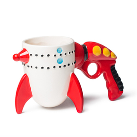 Taza retro ray fun rocket mug